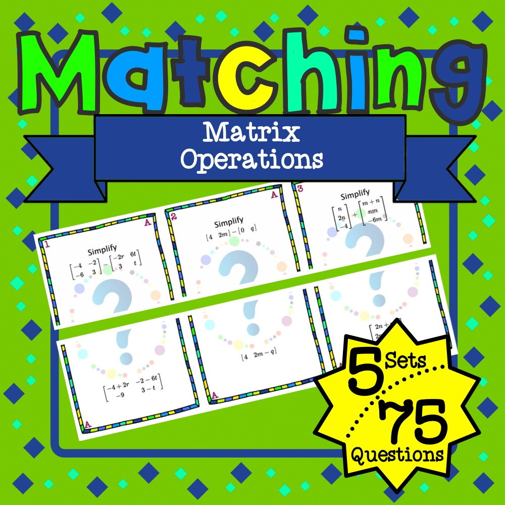 Matrix Operations Matching Game