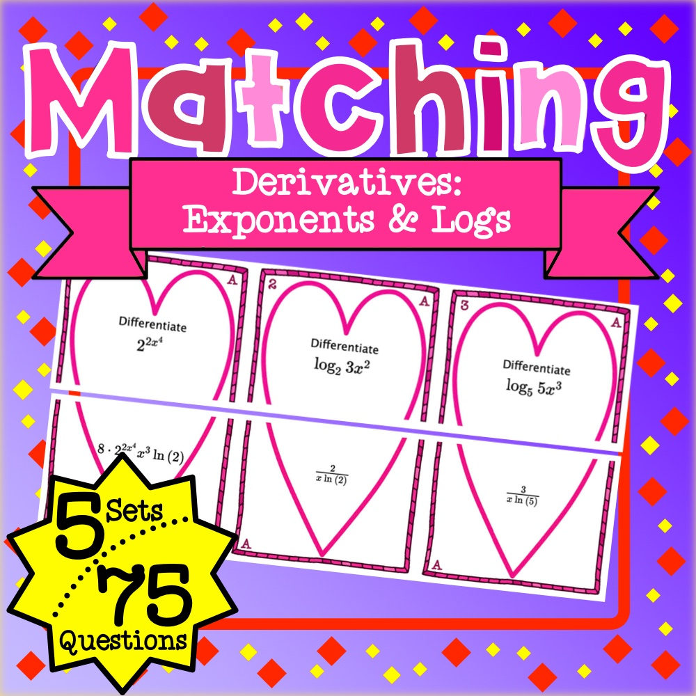 Derivatives Exponents and Logs Matching Game