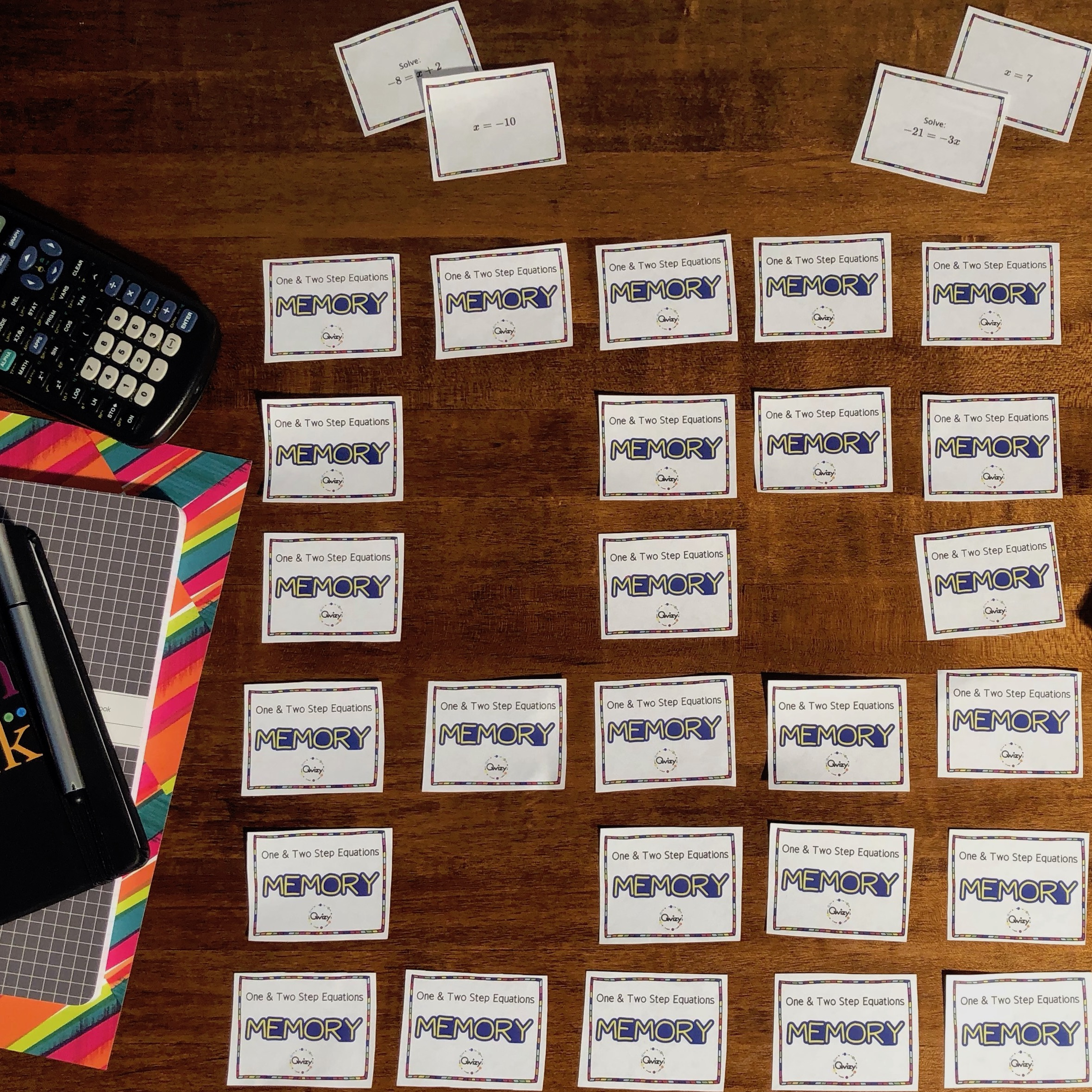 Math Memory Games for the Classroom