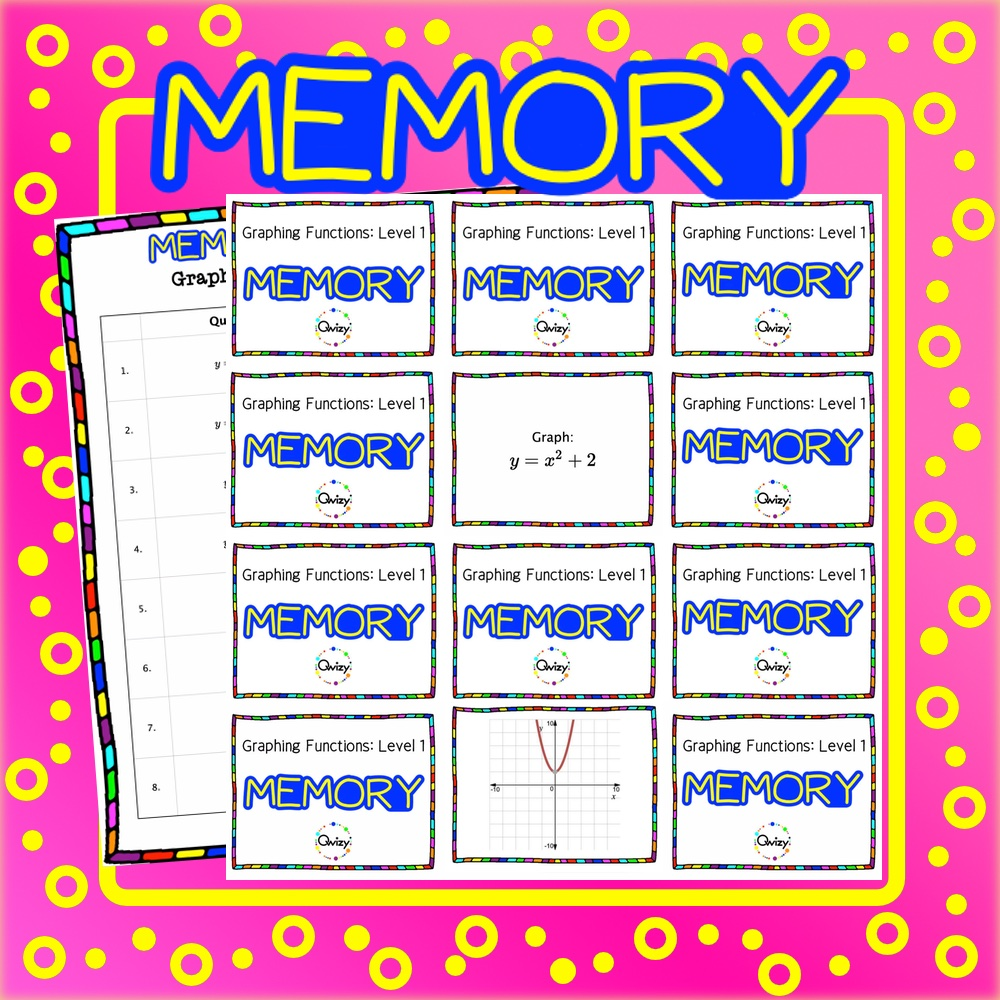 Graphing Transformations Math Memory Game