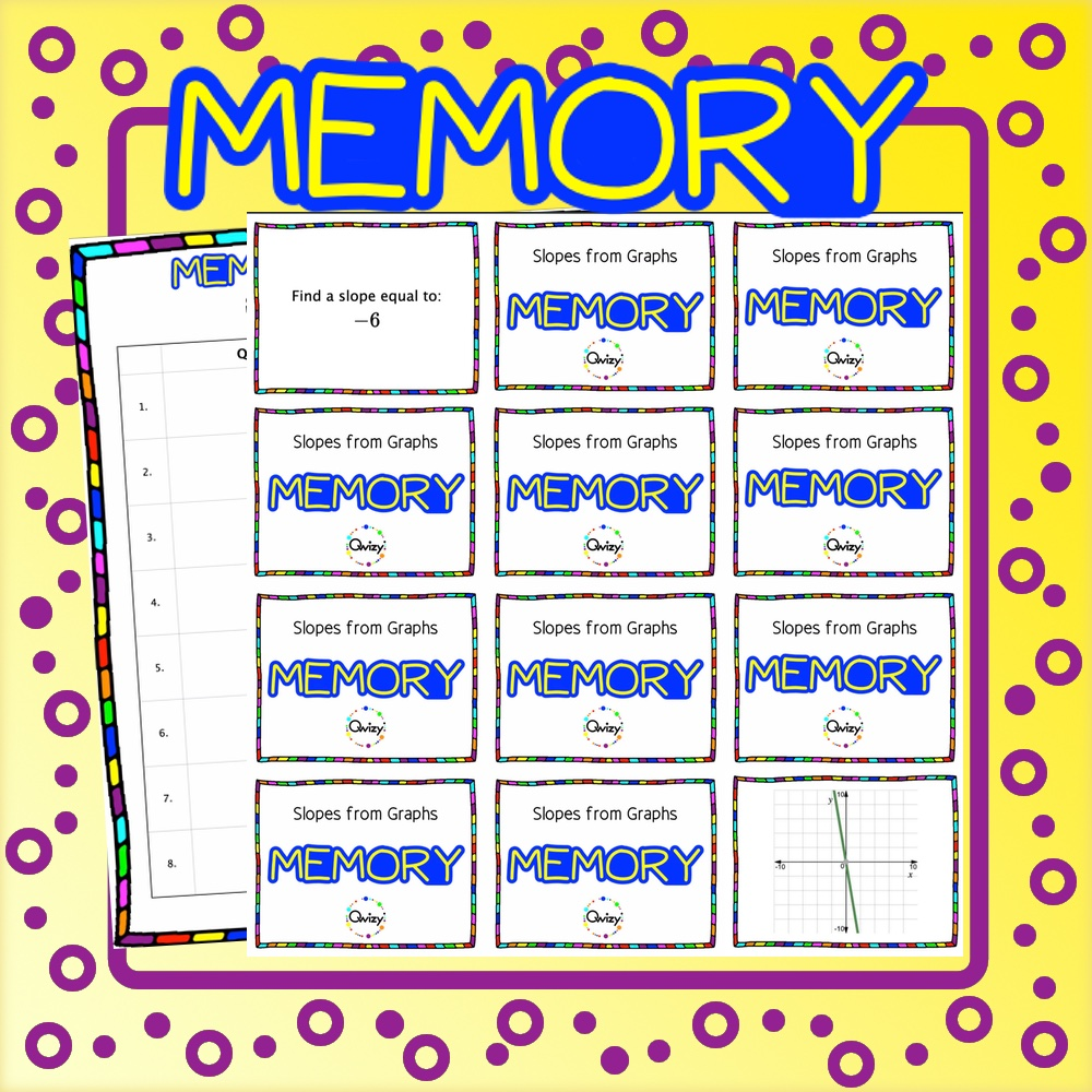 Slopes From Graphs Math Memory Game