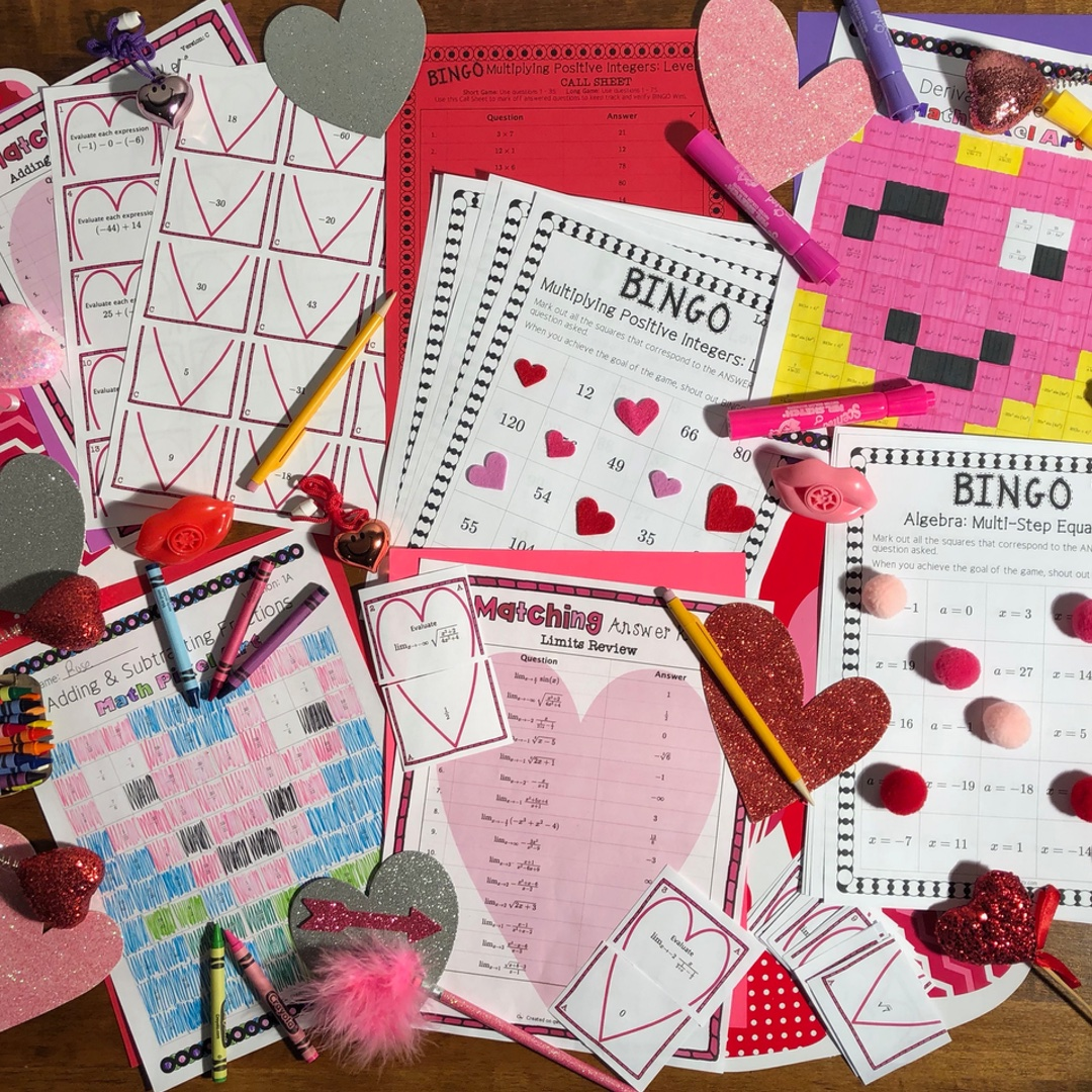 3 Fun Valentine's Day Math Activities for all Grades